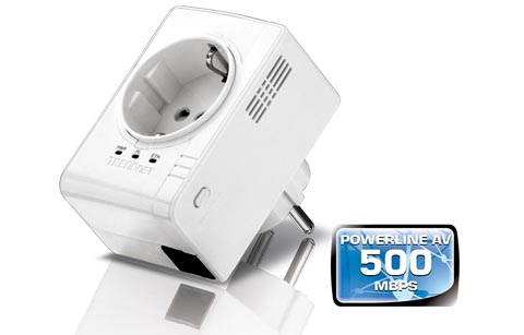 Adaptador Powerline 500 AV compacto