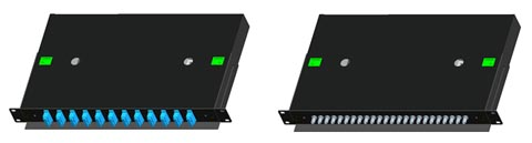 Bandejas de distribución para fibra óptica
