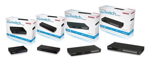 Switches Gigabit de hasta 24 puertos