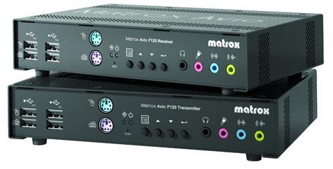 Extensor KVM de fibra óptica con soporte para vídeo HD dual