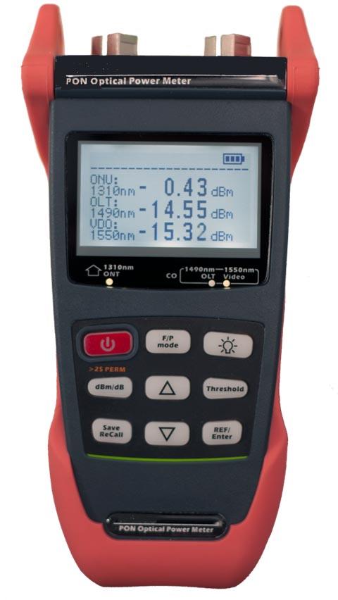 Medidor GPON de 3 longitudes de onda