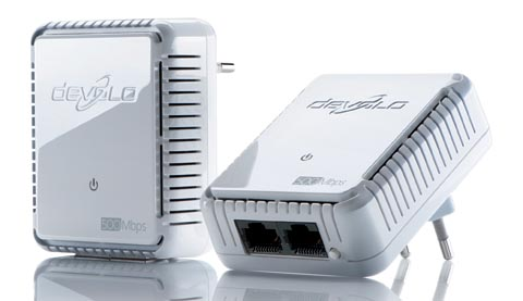Adaptadores PLC compactos a 500 Mb