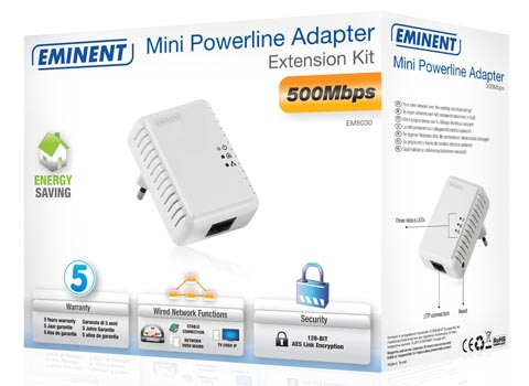 Adaptadores Powerline de 500 Mbps