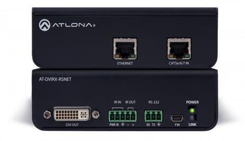 Extensores DVI con Ethernet, RS-232 e IR