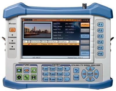 Medidor de campo DVB-T/C/S2 y analógico