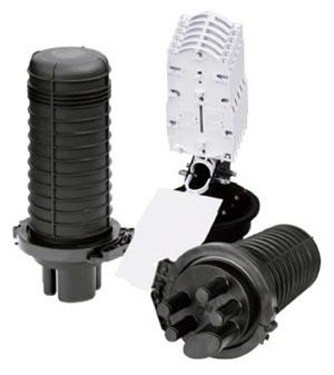 Torpedo para protección de empalmes de fibra óptica