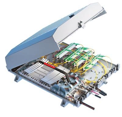 Caja de distribución con sistema integrado de bandejas