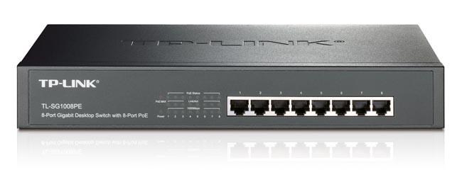 Switch POE de 8 puertos