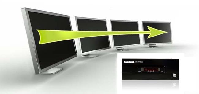 KVM para cuatro PCs