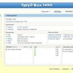 Fritz!Box 7490 Pantalla de inicio