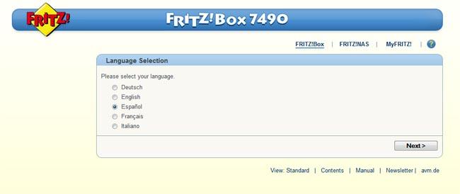 Fritz!Box 7490 caja