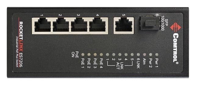 Switch PoE Gigabit para altas temperaturas