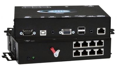Divisor extensor KVM USB VGA con audio estéreo