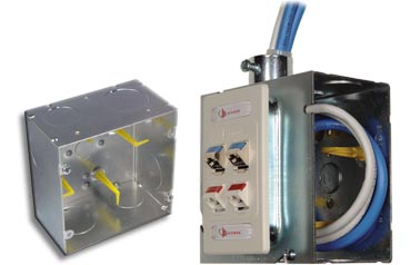 Caja con gestión de cables para telecomunicaciones