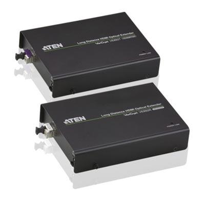 Extensor HDMI por fibra óptica con IR y RS-232