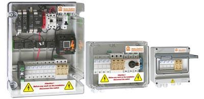 Cajas combinadas para sistemas fotovoltaicos