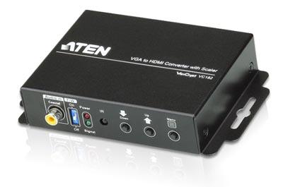 Convertidor VGA a HDMI con escalador de resolución