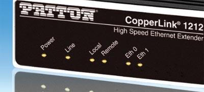 Amplificador compacto de líneas Ethernet