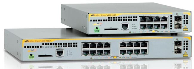 Switches Gigabit con soporte PoE+