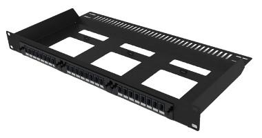 Panel de parcheo 1U con módulos LGX