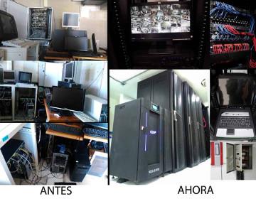 Centro de datos reestructurado