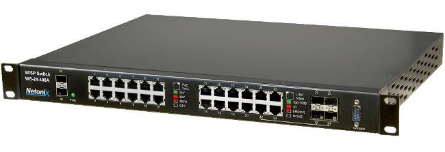 Switches gestionados PoE para WISP