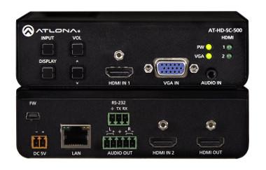 Conmutador de tres entradas para señal HDMI y VGA