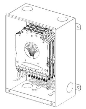 Caja de pared para interior y exterior