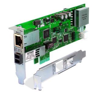 Tarjetas Gigabit Ethernet con conexión de fibra y PoE