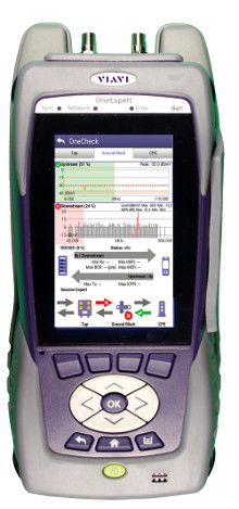 Medidor de análisis de señal CATV