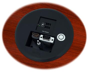 Terminal para acceso de cables sobre mesas