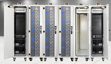 Rack metálico para centros de datos