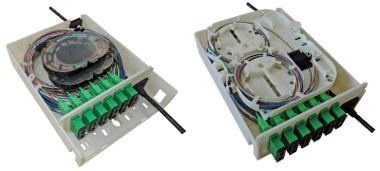 Cajas para distribución de fibras ópticas