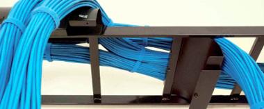 sistema de cableado para rack en escalera