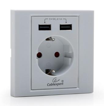 Toma de corriente con cargador USB incorporado