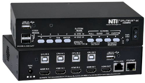 Splitter de vídeo con switch USB KVM