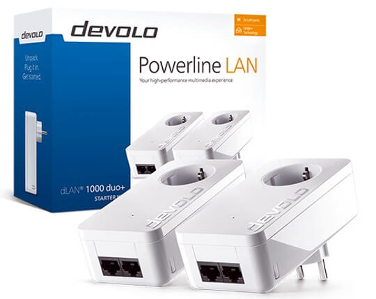 Adaptador Powerline a 1000 Mbps