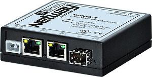 Conversor de fibra a dos puertos Ethernet