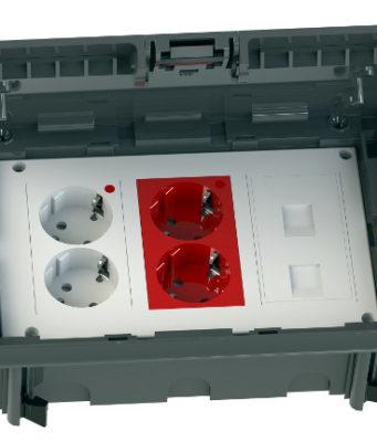Cajas de suelo falso con conexiones compatibles