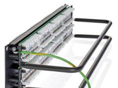 Panel de 24 puertos Cat6 UTP con PoE+ de 100 W