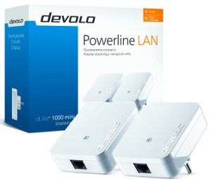 Mini adaptador compacto PLC 1Gb