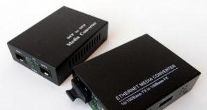 Convertidor de cobre 10/100/1000 Mb a fibra óptica