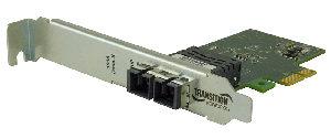 Interfaz Ethernet PCIe para redes de fibra