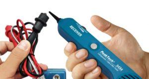 Detector de cables acústico con generador de tono