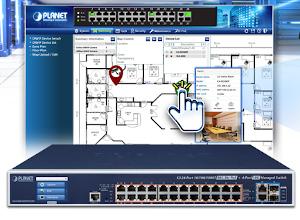 Switch gestionado con función de inyector PoE++