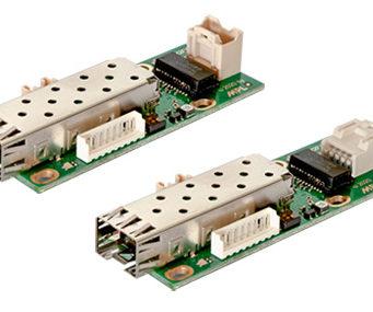 Conversor compacto de cobre a fibra óptica