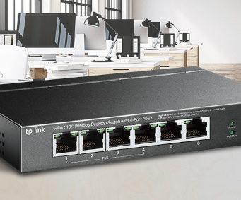 Switch para vigilancia sobre IP profesional con PoE+