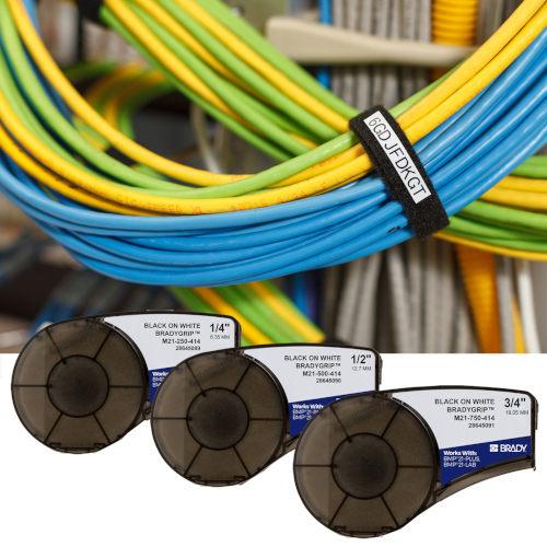Material de impresión BradyGrip para marcar grupos de cables